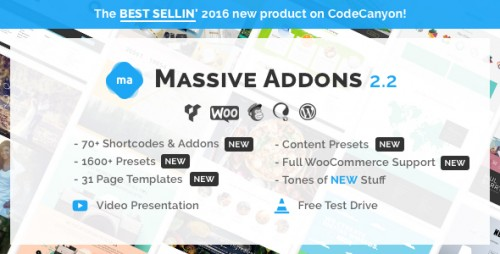Nulled Massive Addons for Visual Composer v2.2 - WordPress Plugin photo