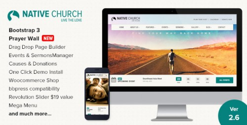 Nulled NativeChurch v2.9 - Multi Purpose WordPress Theme