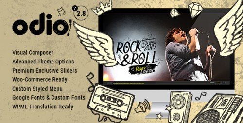 Nulled Odio v2.8 - Music WP Theme For Bands, Clubs, and Musicians