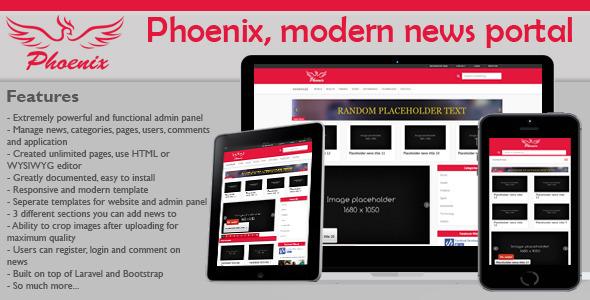 Phoenix v1.4 - modern & minimalist news portal