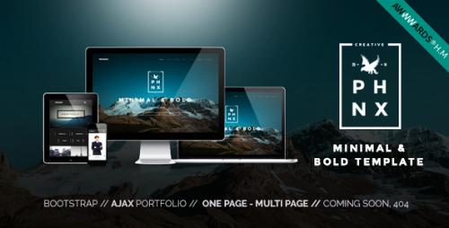 Nulled Phoenix v1.5 - WordPress Minimal Multipurpose Portfolio graphic
