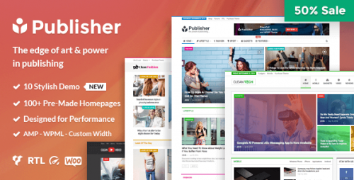 Nulled Publisher v1.6.1 - Magazine, Blog, Newspaper and Review product image
