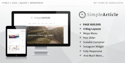 Nulled Simple Article v1.0.8 - WordPress Theme For Personal Blog product logo