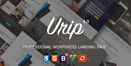 Nulled Urip v7.4.9 - Professional WordPress Landing Page product pic