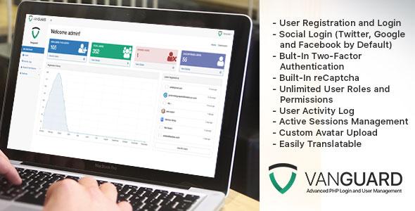 Vanguard v2.1.0 - Advanced PHP Login and User Management