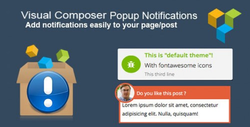 Nulled Visual Composer Popup Notifications v1.2.2 - WordPress Plugin