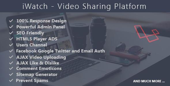 iWatch v1.4 - Video Sharing Platform