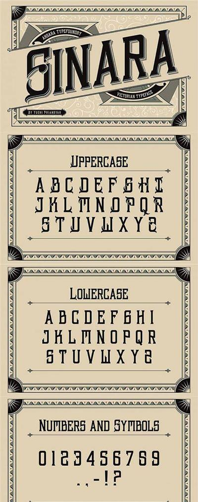 Sinara Typeface Font Family