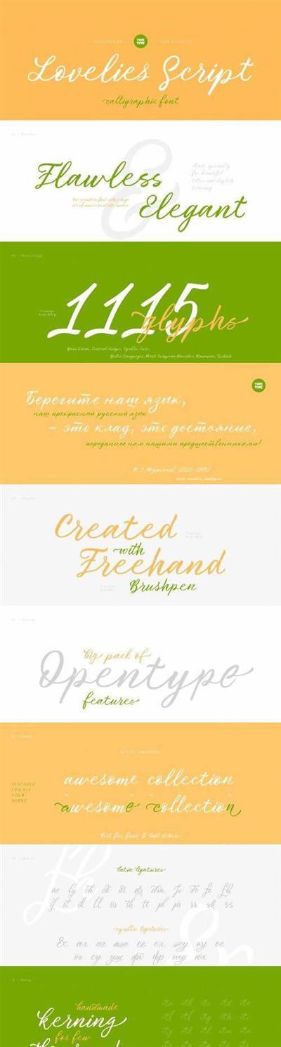 TT Lovelies Script Font