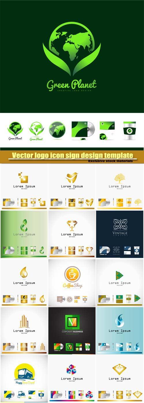 Vector logo icon sign design template corporate identity