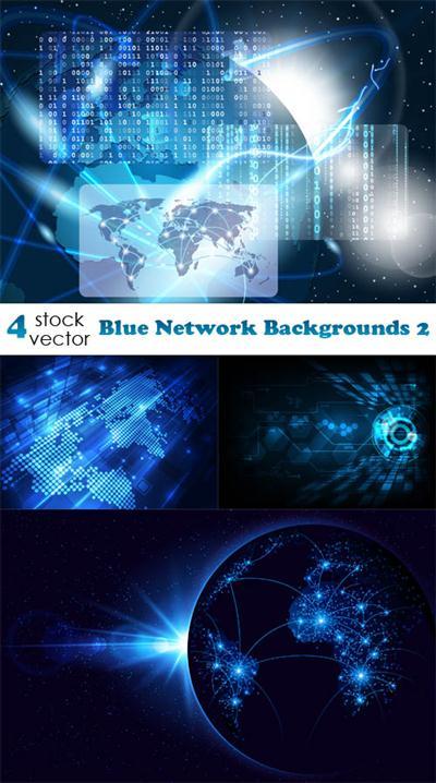 Vectors - Blue Network Backgrounds 2
