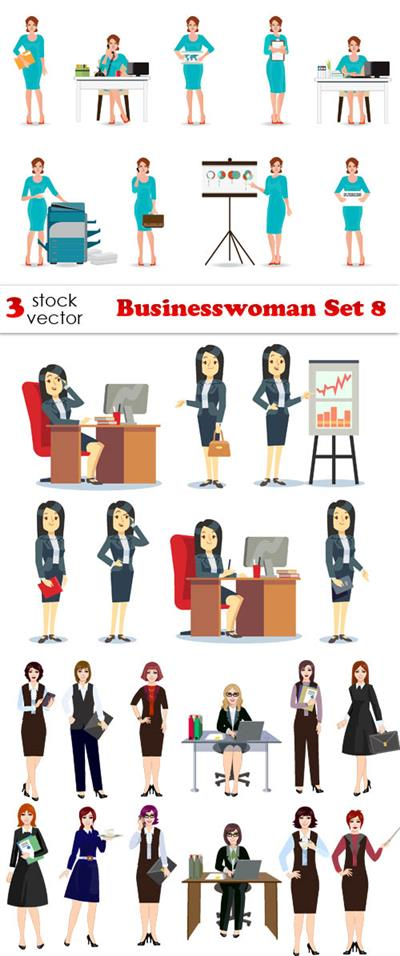 Vectors - Businesswoman Set 8
