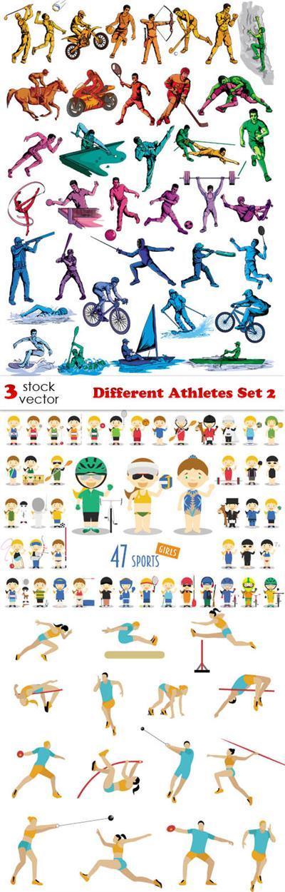 Vectors - Different Athletes Set 2