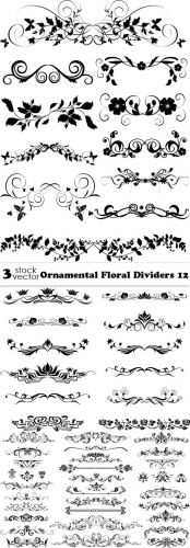 Vectors - Ornamental Floral Dividers 12