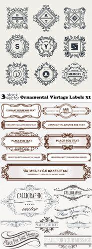 Vectors - Ornamental Vintage Labels 31