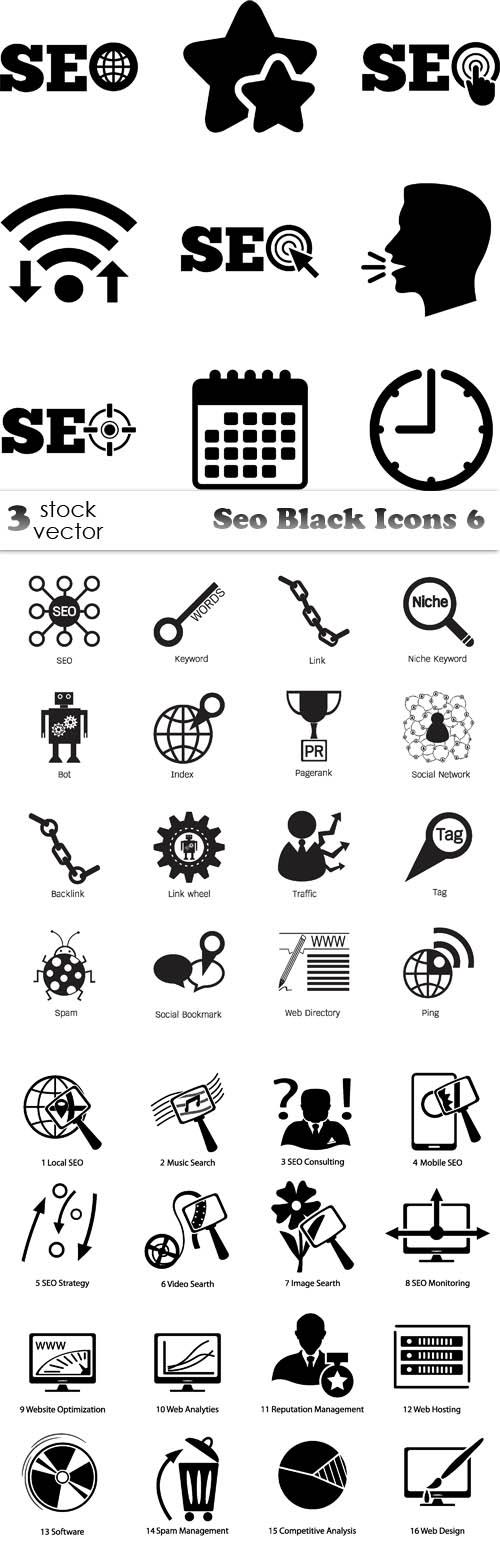 Vectors - Seo Black Icons 6