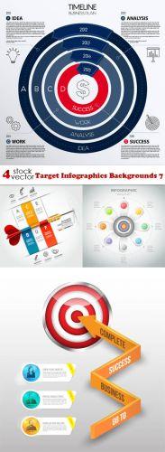 Vectors -- Target Infographics Backgrounds 7