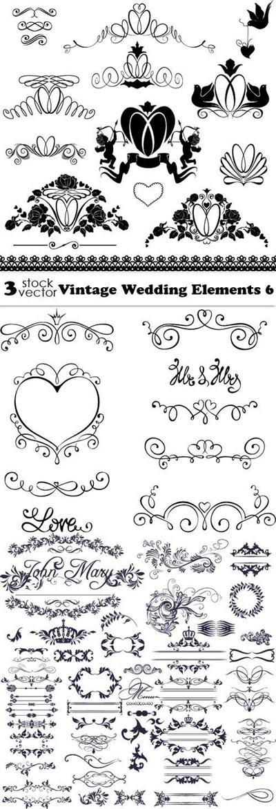 Vectors - Vintage Wedding Elements 6