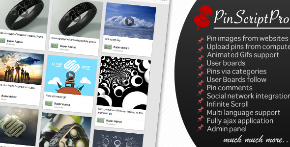 PinScriptPro - Pinterest Like Website