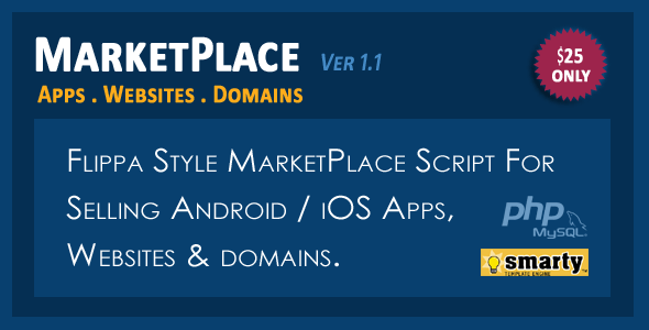 MarketPlace - Apps, Websites and Domains Selling Script