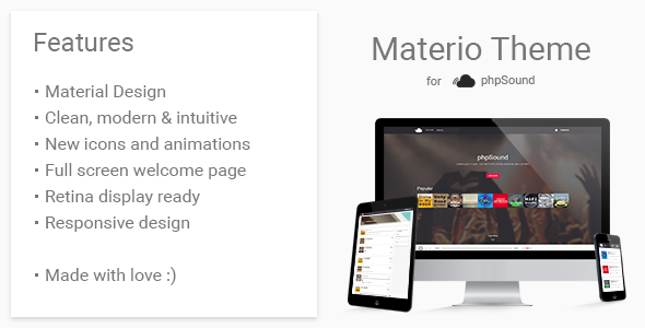 Materio Theme for phpSound