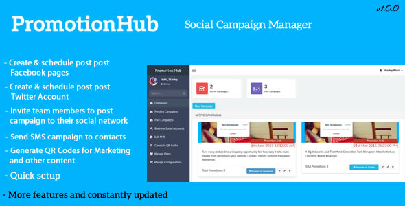 Promotion Hub – Social Campaign Manager