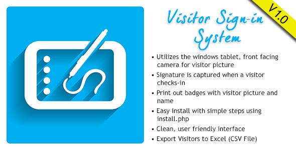 Visitor Signin System v1.0.1