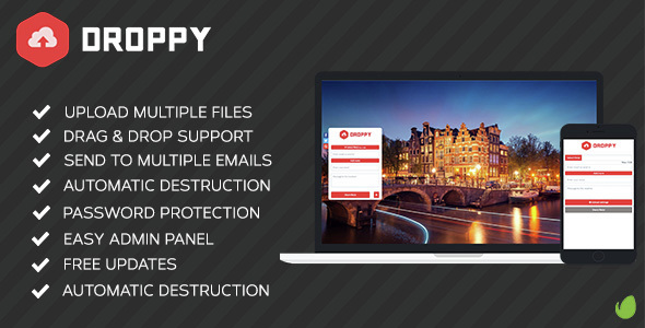 Droppy v2.1.3 - Online file sharing - nulled