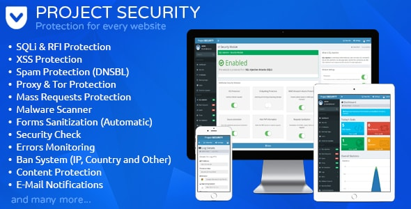 Project SECURITY v15 – Website Security, Antivirus & Firewall