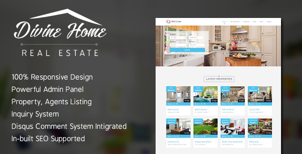 Divine Home - Real Estate Portal
