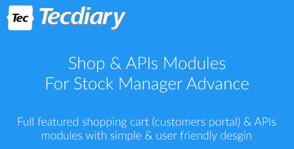 Shop (Shopping Cart) & APIs Modules for Stock Manager Advance