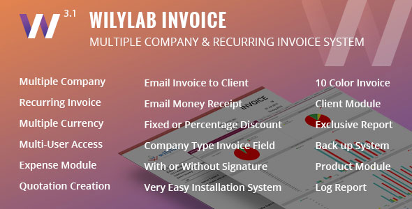 Wilylab Invoice v3.1 - Recurring & Multiple Company Invoice