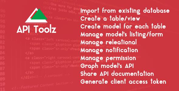 API Toolz - PHP Laravel v5.4 Backend + API GUI Tools