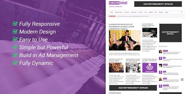NewsOne - Creative Solution For Newspaper Magazine & Blog