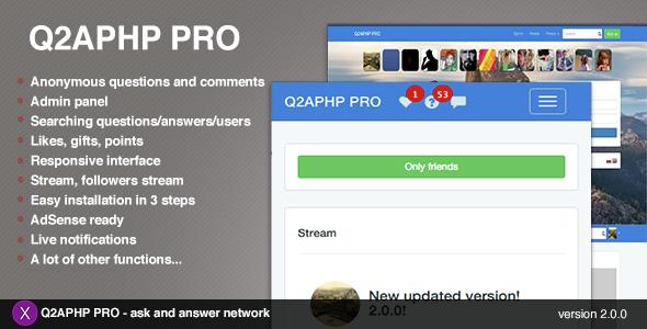 Q2APHP PRO v2.0.2 - q&a social network