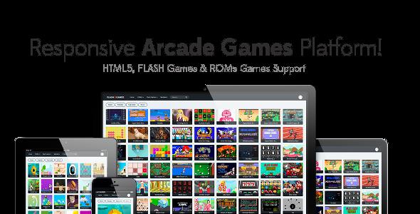 Responsive HTML5, Flash Games & ROMs Games Platform - Arcade Game Script v1.2.1