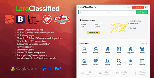 LaraClassified v3.2 - Geo Classified Ads CMS