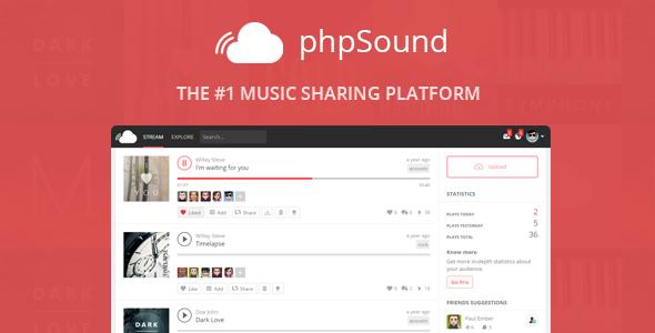 phpSound v2.0.2 - Music Sharing Platform