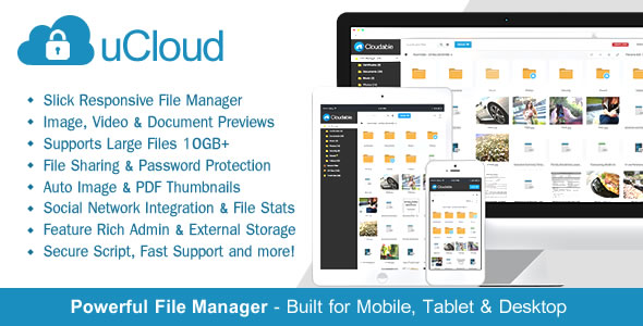 uCloud v1.4.1 - File Hosting Script - Securely Manage, Preview & Share Your Files