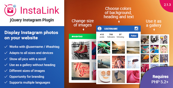 Instagram Plugin v2.1.3 - jQuery Widget for Instagram