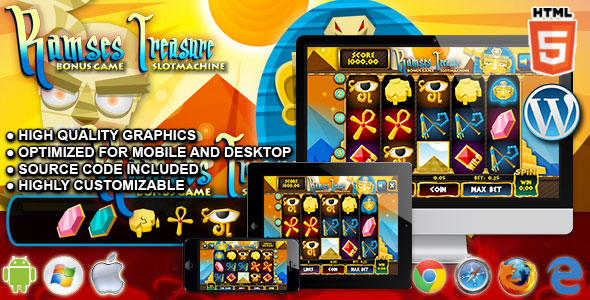 Slot Ramses - HTML5 Casino Game