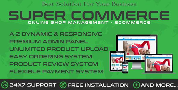 SuperCom - Online Shopping Ecommerce Cart
