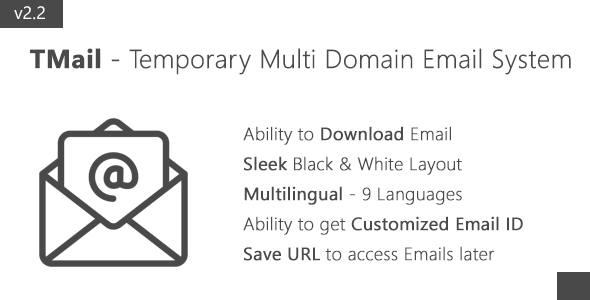 TMail - Multi Domain Temporary Email System