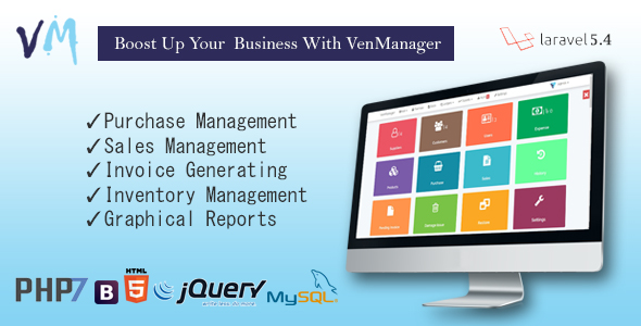 VenManager - Inventory, Account & Sales Management