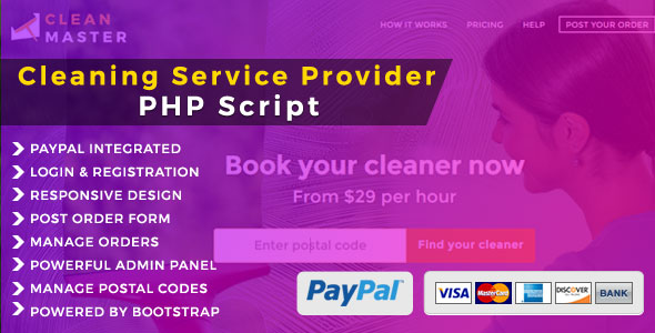 Clean Master - Cleaning Domestic Service PHP Script