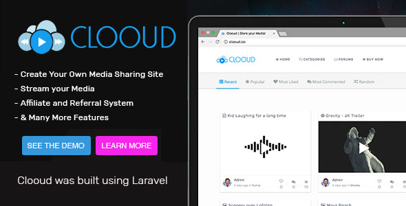 Clooud v1.4.0 - Premium Media Sharing Script