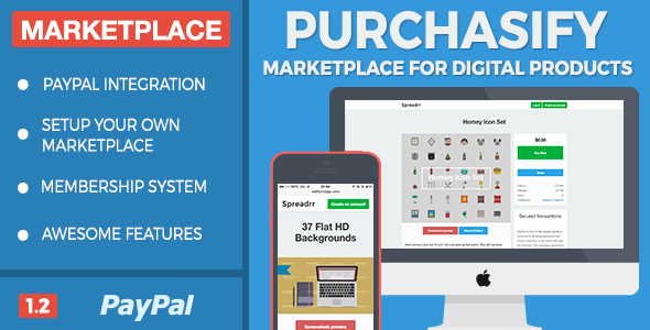 Purchasify v1.2 - Marketplace for Digital Products