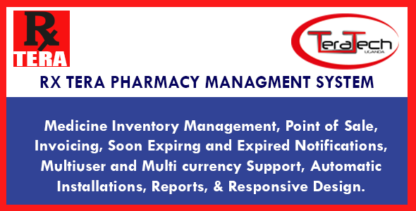 Rx Tera v2.0 - Complete Pharmacy Management Application