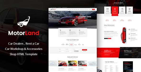 Nulled MOTORLAND v1.0 – Car Dealer HTML Template   NulledTorrent