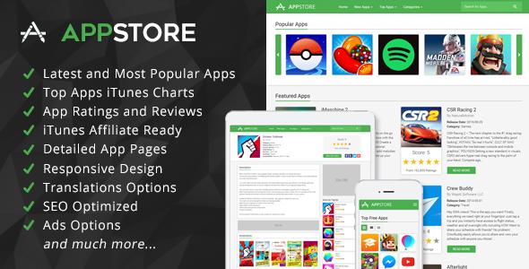 AppStore - iOS Apps Affiliate Script
